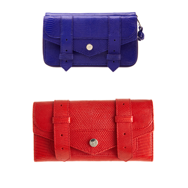 Proenza Schouler Continental and Large Iguana Wallets