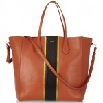 Rochas Textured-Leather Tote
