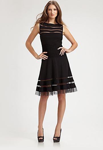 Tadashi Shoji Flounce Skirt Dress