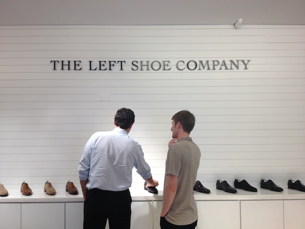 the l a opening of the left shoe company s first u s store the finnish