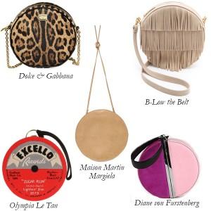 Dolce and Gabbana, Diane von Furstenberg, Olympia le Tan, Maison Martin Margiela, B-Low the Belt Circular Bags