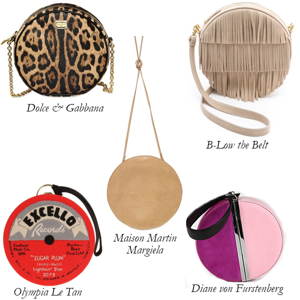 Dolce and Gabbana, Diane von Furstenberg, Olympia le Tan, Maison Martin Margiela, B-Low the Belt Circular Bags