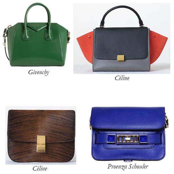 Givenchy Nightingale, Céline Box, Céline Trapeze, and Proenza Schouler PS11 Bag