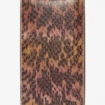 Lanvin Brown Snakeskin Vertical Minaudière Box Clutch