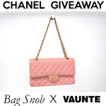Last Day to Enter the Chanel Classic Flap Bag Giveaway by Vaunte!