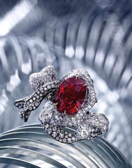Cindy Chao Ruby Ribbon Ring