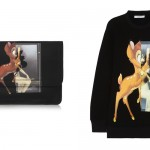 Givenchy Bambi Print Clutch and Sweatshirt