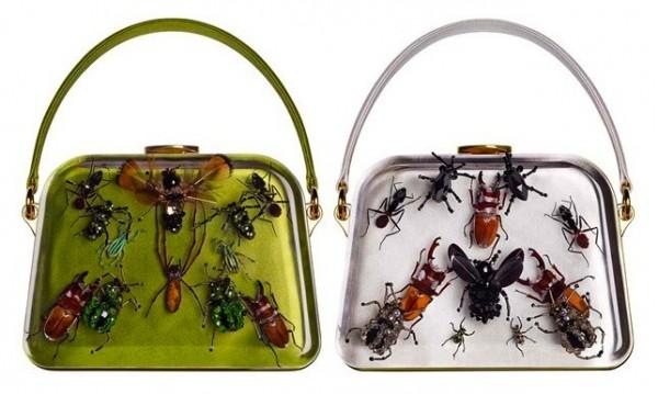"""Damien Hirst Designs an """"Entomology"""" Bag for Prada"""