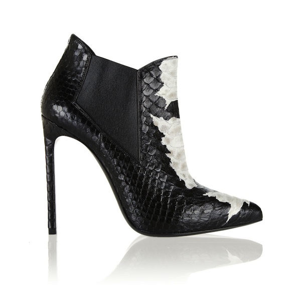 Saint Laurent Paris Two-Tone Python Ankle Boots