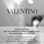 Valentino Spring/Summer 2014 Runway Show: