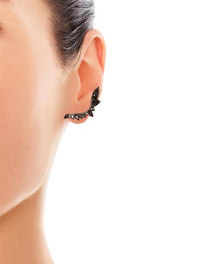 Fernando Jorge Black Diamond, Sapphire & Gold Lobe Earrings