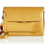 Marni Metallic Patent-Leather Shoulder Bag