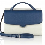 Fendi Demi-Jour Small Colorblock Textured-Leather Shoulder Bag