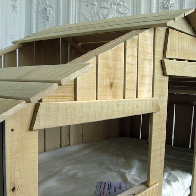 Mathy By Bols Treehouse Bed in Natural Lime Wood
