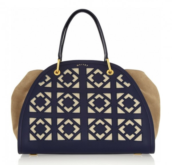Maiyet Peyton Laser-Cut Leather and Suede Tote