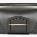Nina Ricci Black Leather Wraparound Tab Clutch