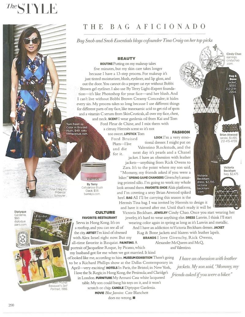 Hanging with Harper's Bazaar