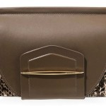 Nina Ricci Cart Blanche Leather and Snake-Effect Clutch