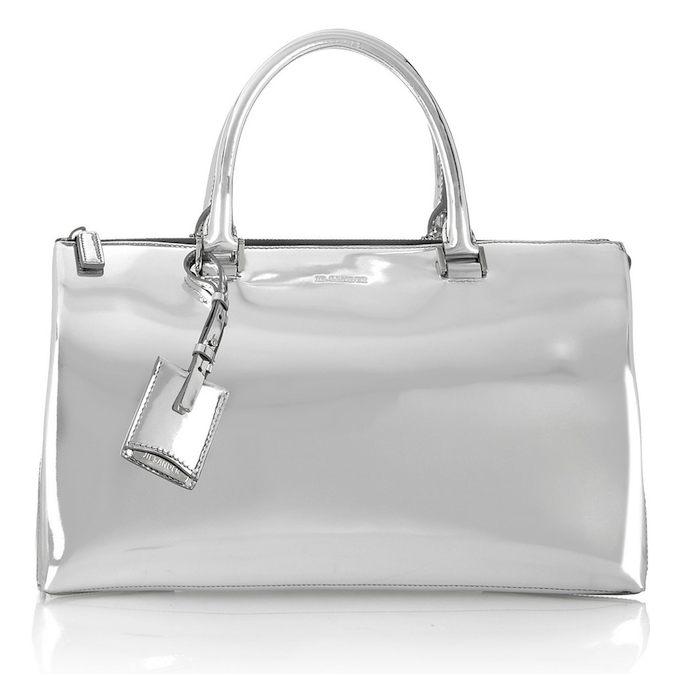 Jil Sander Mirrored-Leather Tote