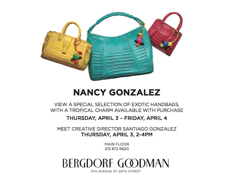 Nancy Gonzalez x Bergdorf Goodman Tropical Event