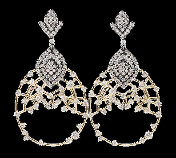 Bochic Diamond Openwork Earrings