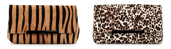 Christian Louboutin Rougissime Calf-Hair Clutch Bags