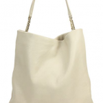 Jimmy Choo Pebble Leather Shoulder Tote