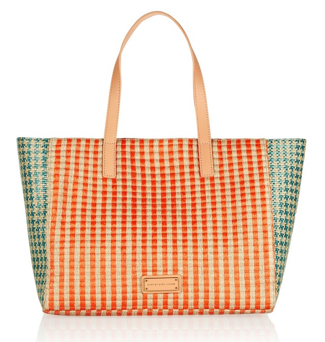 Marc by Marc Jacobs Tina Leather-Trimmed Woven Tote
