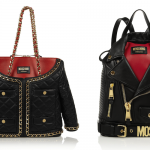 Moschino Jacket Quilted Leather Shoulder Bag and Biker Leather Backpack