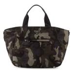 Prada Tessuto Camo-Print Tote Bag