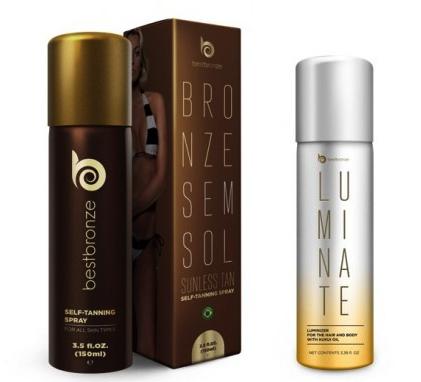 Best Bronze Self-Tanning Spray & Luminate Illuminate Shimmer