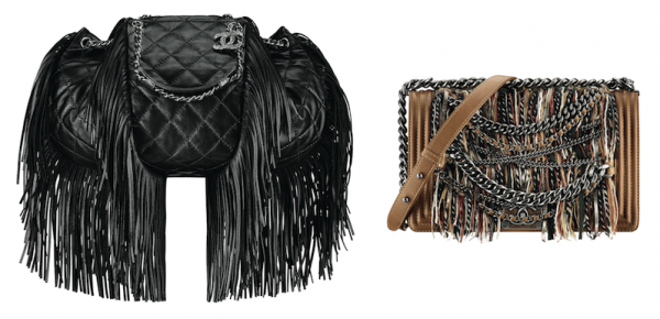Chanel Pre-Fall Quilted Leather and Boy Fringe Bags