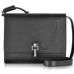 Carven Malher Black Small Grained Leather Shoulder Bag