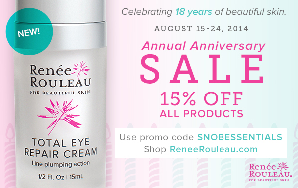 15% Off All Renée Rouleau Products for Snob Essential Readers