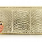 Roberto Cavalli金属色皮革手拿包:金色年代