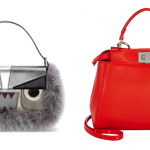 Fendi Baguette Metallic Fur Monster Bag and Mini Peekaboo Bag: Beauty and the Beast