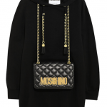 Moschino Bag-Embellished Cotton Jersey Hooded Top: A Pouch with Punch