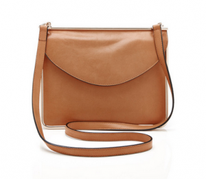 Carven Metal-Framed Leather Shoulder Bag