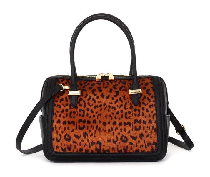Snob Essentials Leopard Anna Satchel
