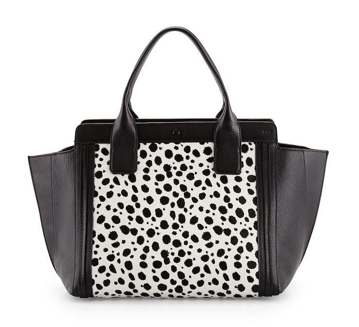 Chloé Alison Small Spotted Combo Tote Bag: On the Dot