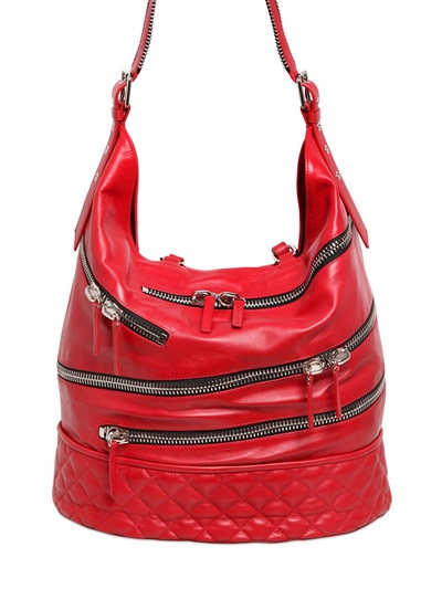 Giuseppe Zanotti Zipped Nappa Leather Shoulder Bag