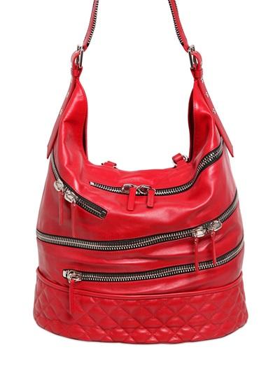Giuseppe Zanotti Zipped Nappa Leather Shoulder Bag