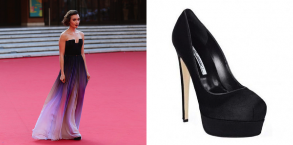 Lily Collins x Brian Atwood Hamper Pumps