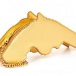Saint Laurent Metallic Leather Gun Clutch: Snob or Slob?