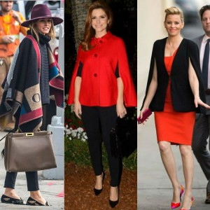Cape Coats and Ponchos: Celebrity Style