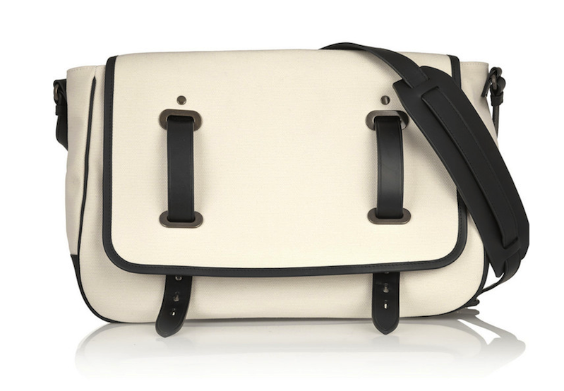 Tomas Maier Leather-Trimmed Canvas Shoulder Bag: Here, There, Every-Wear?