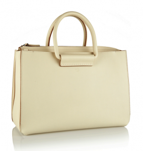 The Row Satchel 12 Textured-Leather Tote