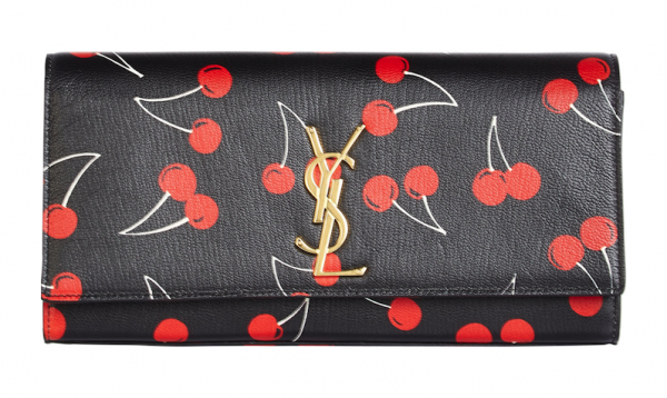 Saint Laurent Cherry Classic Monogramme Clutch: Cherry Bombed
