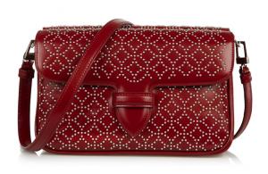 Alaïa Arabesque Small Studded Leather Shoulder Bag