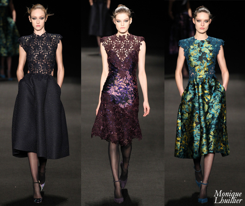 Monique Lhuillier Fall 2015 Collection: All About that Lace
